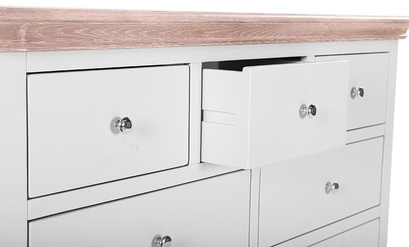 Clearance Half Price - Rosa Painted 4+3 Drawer Chest - New - 480