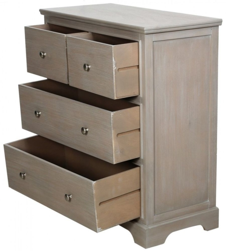 Clearance Half Price - Serra Taupe 2+2 Drawer Chest - New - 465