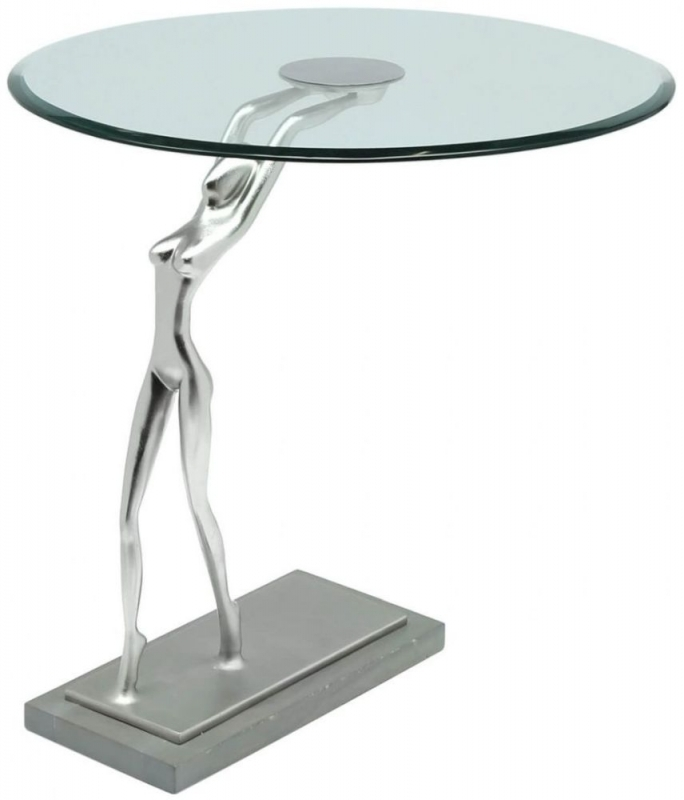 Clearance Half Price - Limerick Glass End Table - New - 447