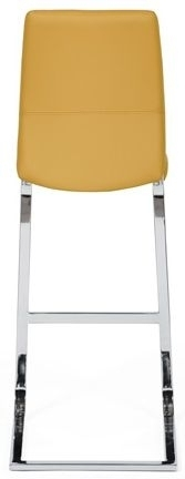 Clearance Half Price - Seattle Ochre Faux Leather Stool (Pair) - New - 415