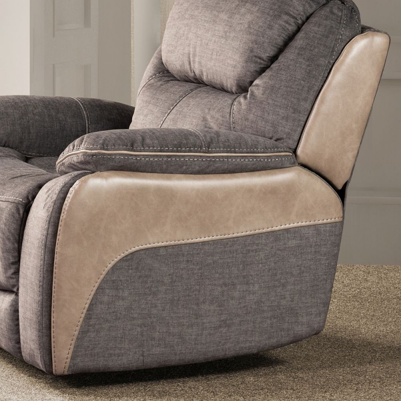 Sweet Dreams Langley 1 Seater Grey Fabric Recliner Sofa