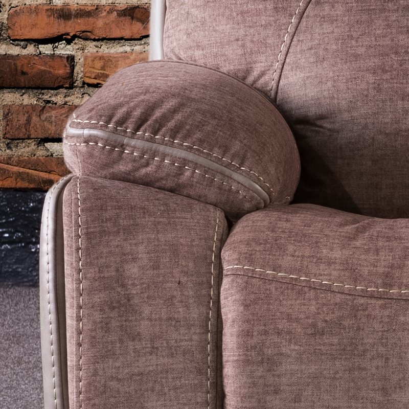 Sweet Dreams Langley 3 Seater Fawn Fabric Recliner Sofa