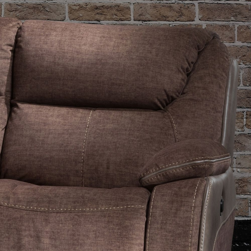 Sweet Dreams Waterloo Deluxe Fawn Fabric Corner Recliner Sofa