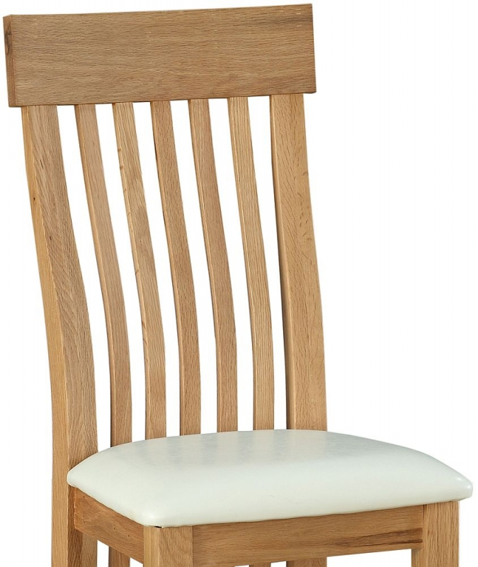 Sweet Dreams Rossendale Oak Dining Chair (Pair)