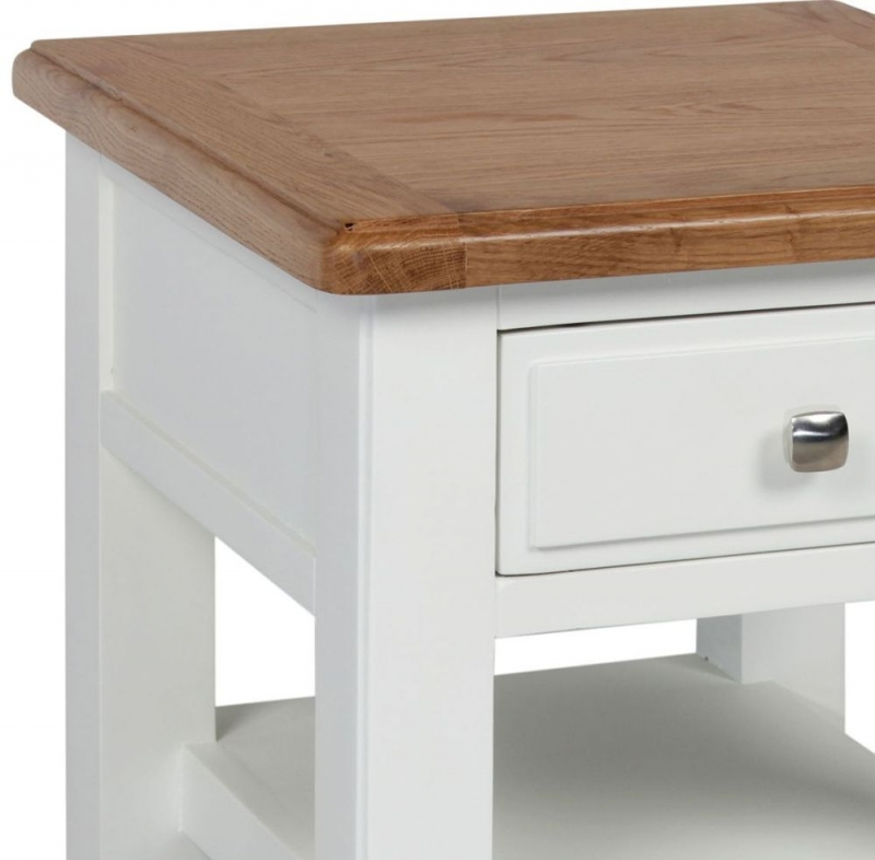 Sweet Dreams Dorset Oak and Painted 1 Drawer Lamp Table
