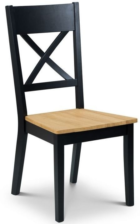 Julian Bowen Hockley Oak and Black Dining Chair (Pair)