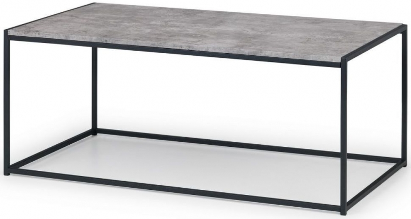 Julian Bowen Staten Faux Concrete Coffee Table