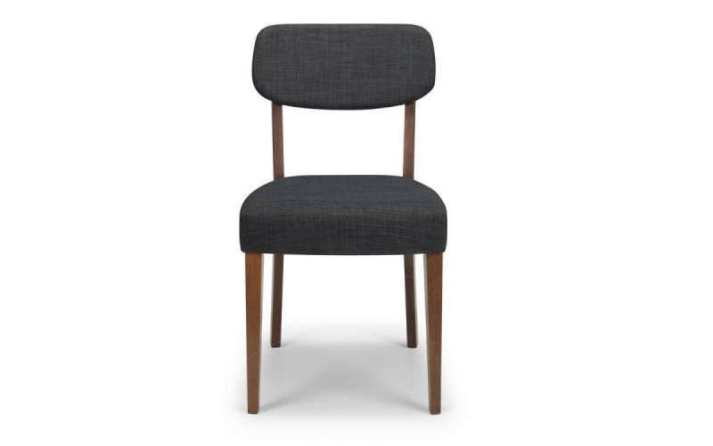 Julian Bowen Farringdon Grey Fabric Dining Chair (Pair)