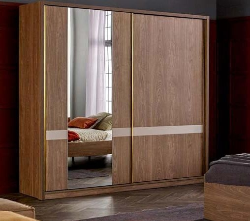 Lydney Walnut 2 Door Sliding Wardrobe