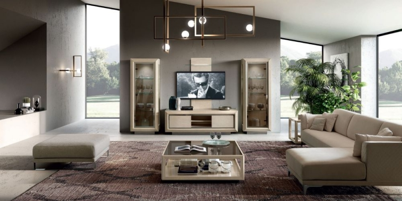 Camel Elite Day Sand Birch Italian TV Cabinet