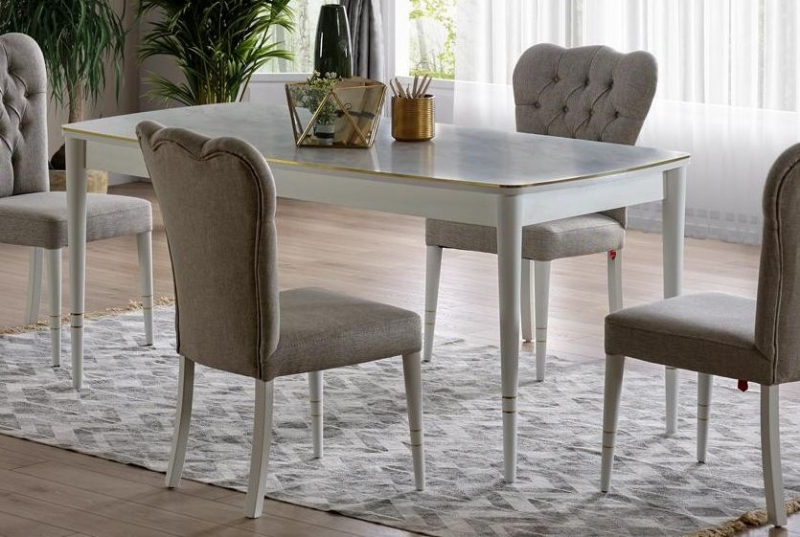 Fleetwood White Dining Table