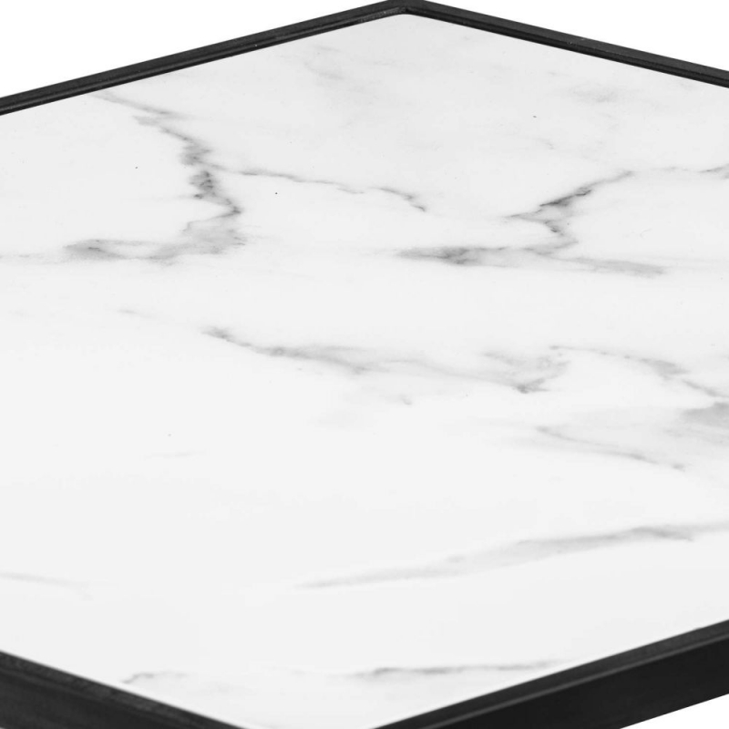 Hill Interiors Grey and Marble Hexagonal Table