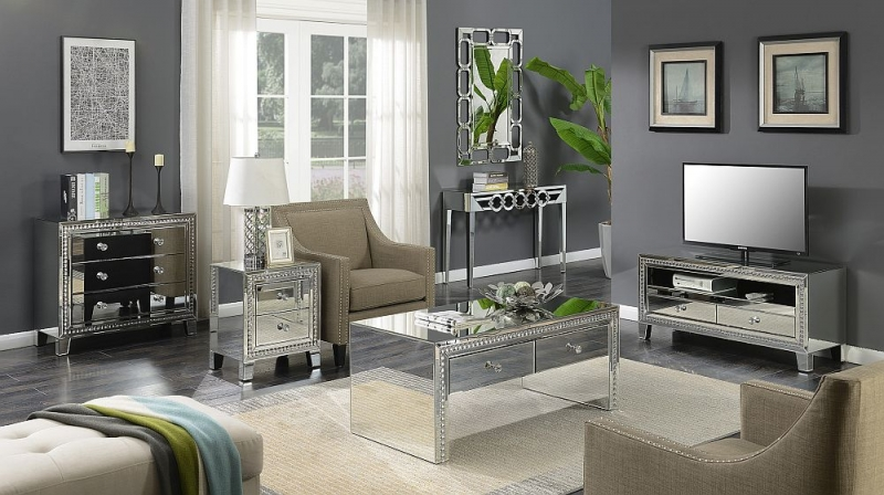 Buckeye Mirrored TV Unit
