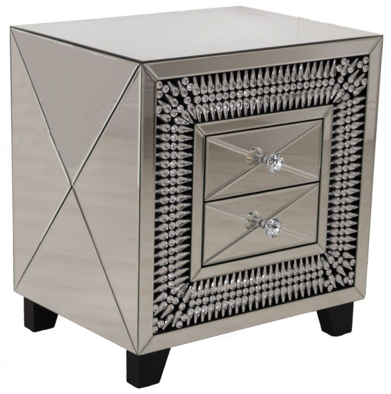 Eloy Mirrored Bedside Table