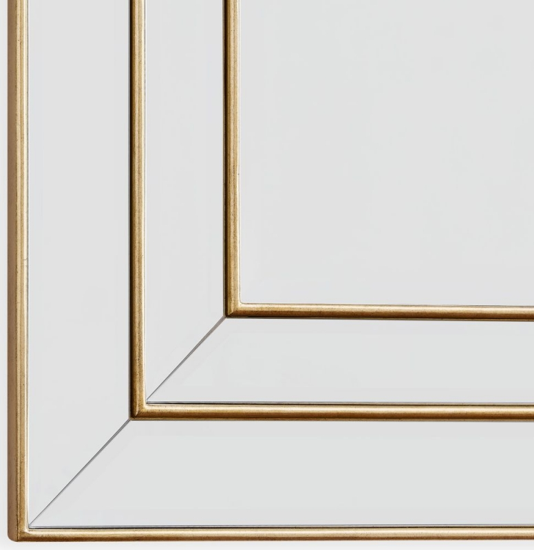 Lexington Rectangular Wall Mirror - 90cm x 120cm