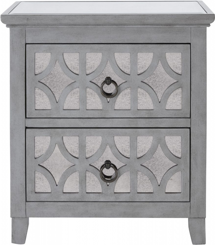 Raleigh Grey Mirrored Side Table