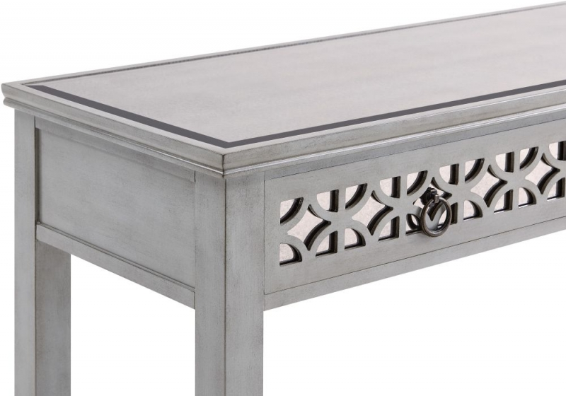 Raleigh Grey Mirrored Console Table with Mirror