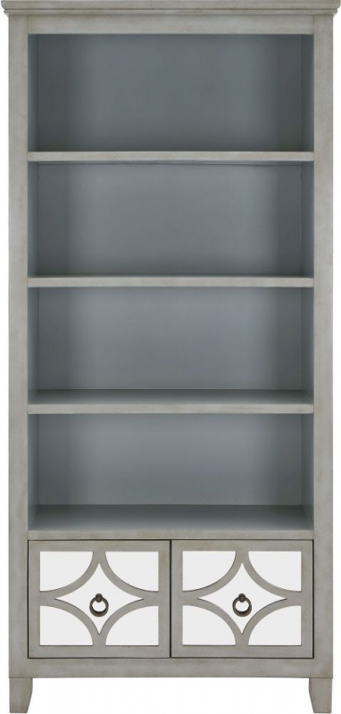 Raleigh Grey Mirrored Bookcase