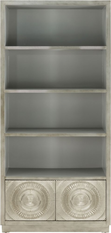 Filton Silver Embossed Bookcase