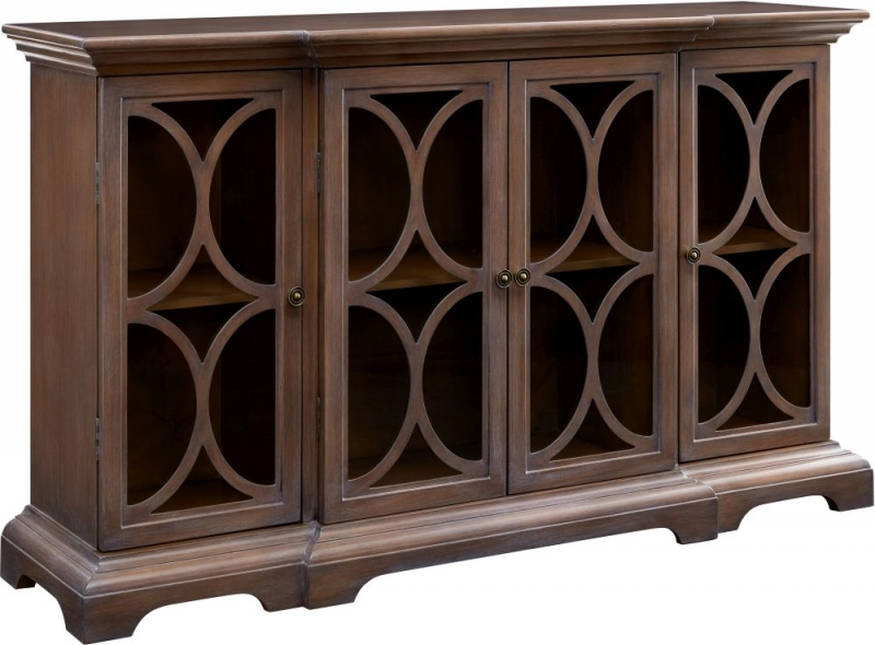 Barnsley Wood and Glass Sideboard with Mirror