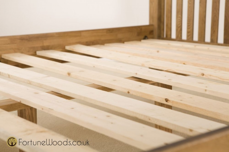 Rustic Oak Bed - High Foot End