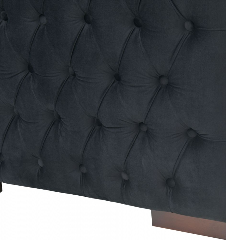 Meltham Black Velvet Fabric Snuggle Chair