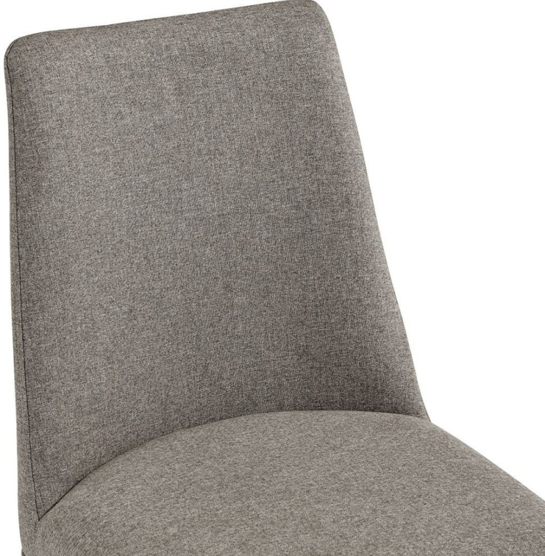 Penrith Brass and Beige Linen Fabric Dining Chair (Pair)