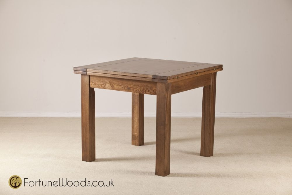 Buy Rustic Oak Dining Table 3ft Flip Top Extending Online CFS UK