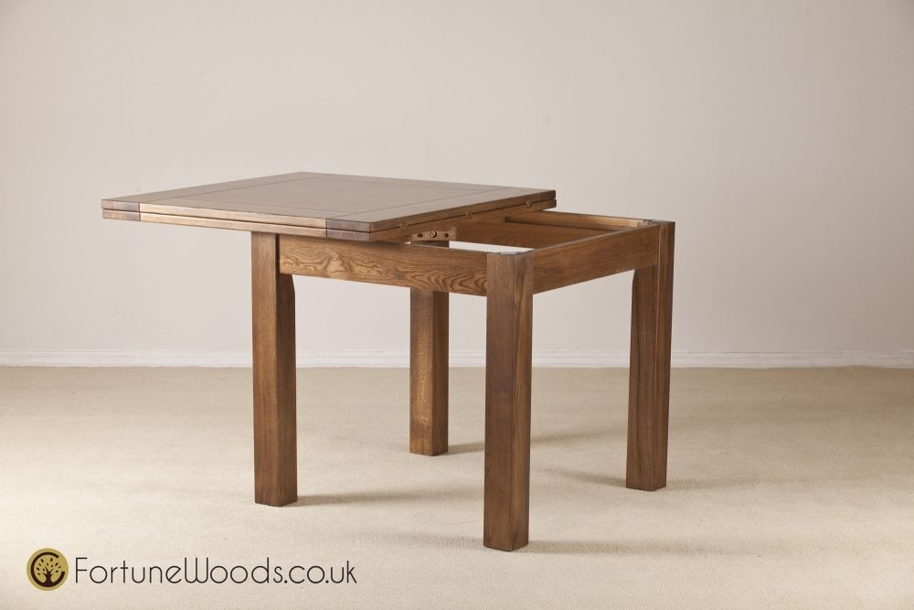 Buy rustic dining table buy rustic oak dining table for Flip top dining table ikea