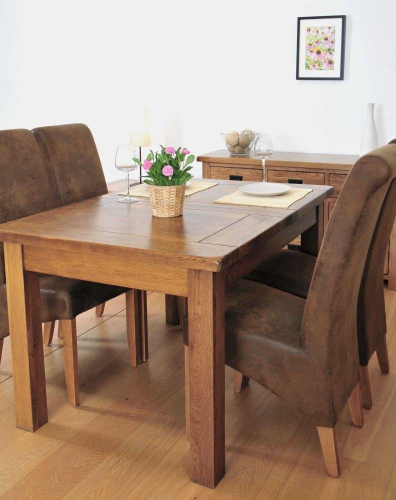 Buy Rustic Oak Dining Table 3ft Flip Top Extending Online CFS UK