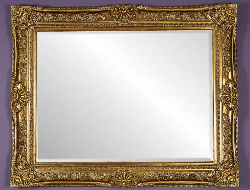 Thirsk Antique Gold Rectangular Wall Mirror - 125cm x 155cm