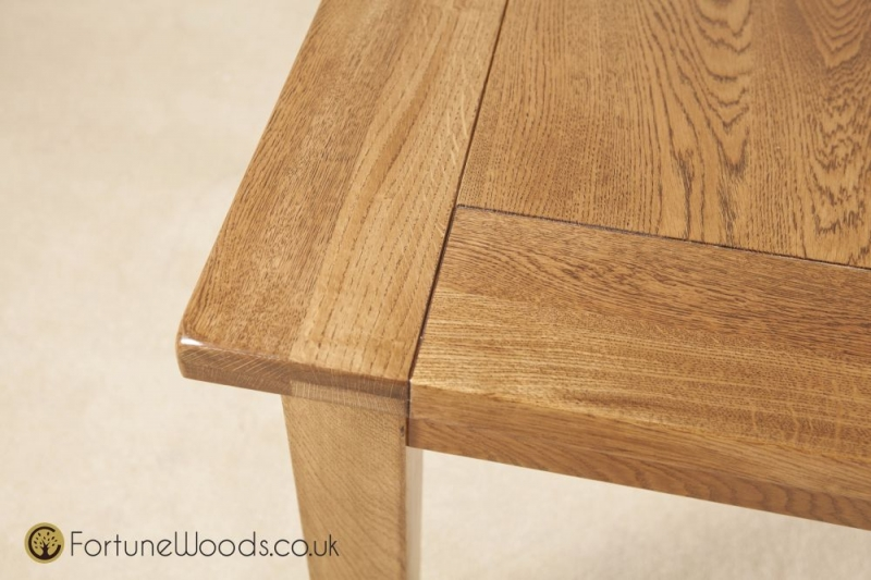 Rustic Oak Dining Table - 4ft 6in Extending with 2 Leaf