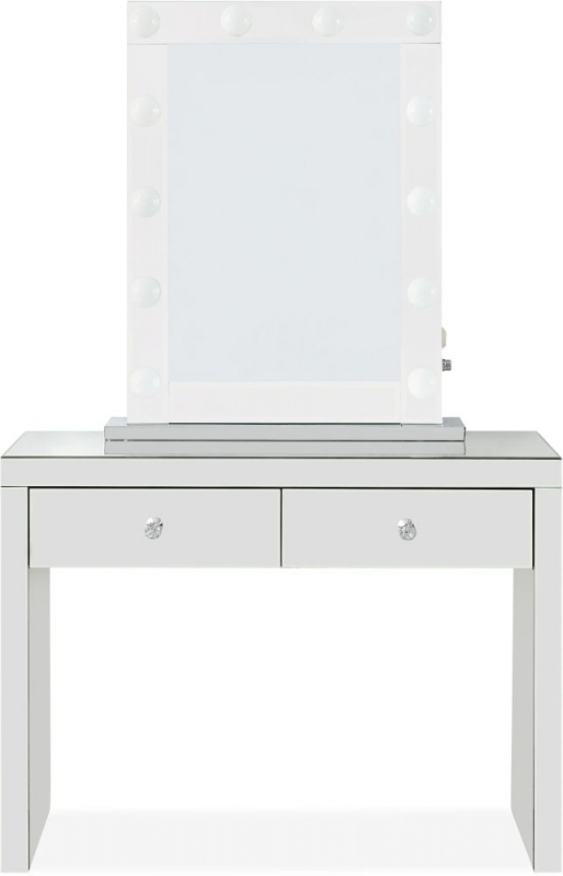 Hollywood Mirrored Console Table and Lighting Mirror with Bluetooth