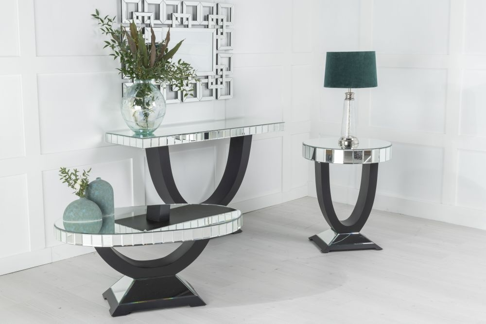 Urban Deco Art Deco Mirrored Side Table