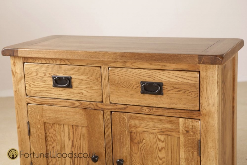 Rustic Oak Dresser Base - 3ft