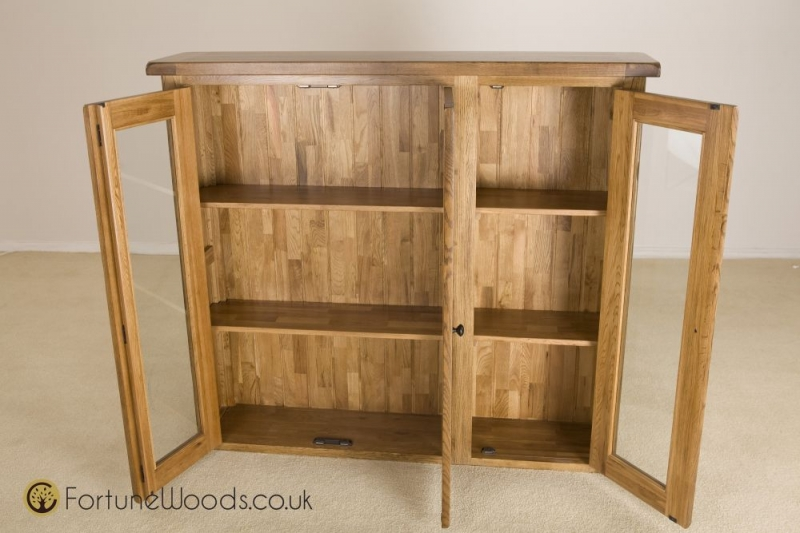 Rustic Oak Dresser Top - 4ft 6in Glass Door