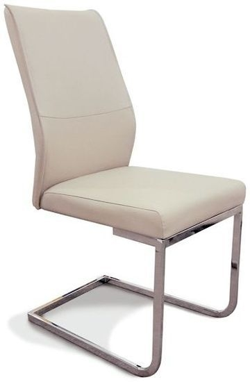 Clearance - Seattle Taupe Faux Leather Dining Chair (Pair) - New - E-259