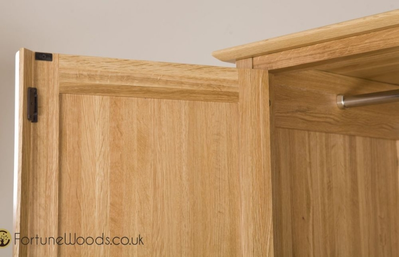 Milano Oak Wardrobe - 2 Door 1 Drawer Gents