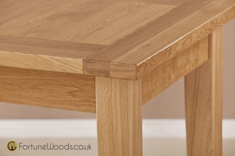 Milano Oak Dining Table - Large D-End Extending