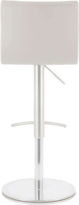 Serene Bryony Taupe Faux Leather Swivel Bar Stool
