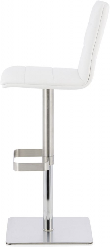 Serene Cicely White Faux Leather Swivel Bar Stool