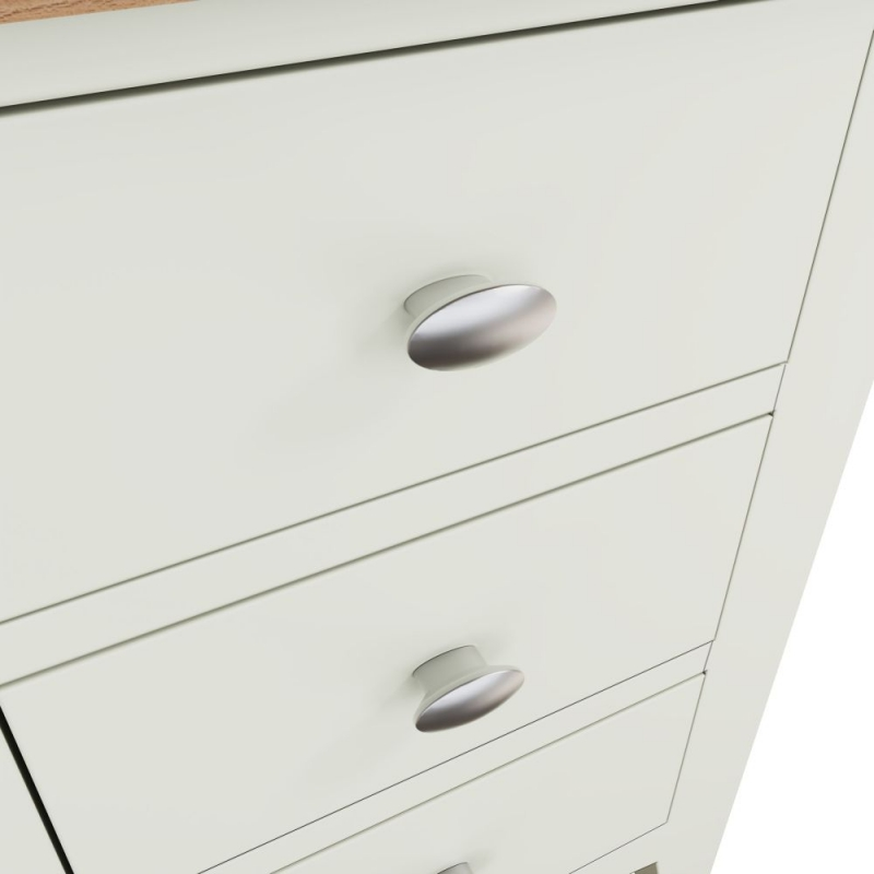 Graceton Oak and White Painted 3 Drawer Bedside Cabinet