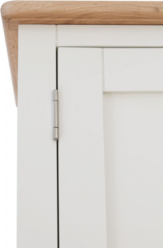 Graceton Oak and White Painted 2 Door Wardrobe