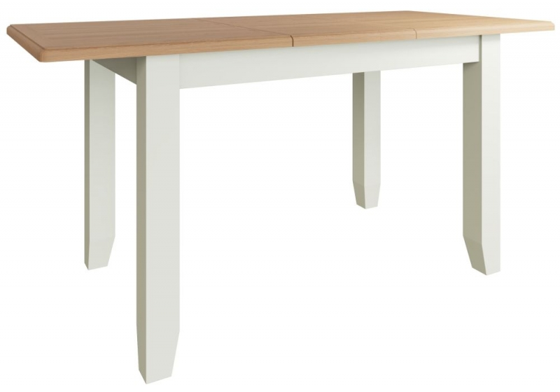 Graceton Oak and White Painted 120cm-160cm Extending Dining Table
