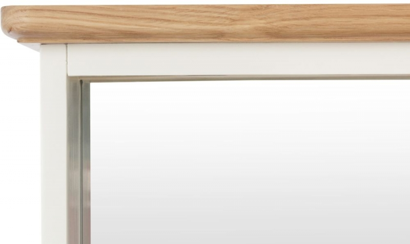 Graceton Oak and White Painted Hall Bench Top