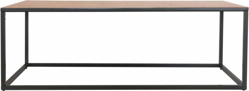 Inkster Industrial Oak and Metal Large Coffee Table