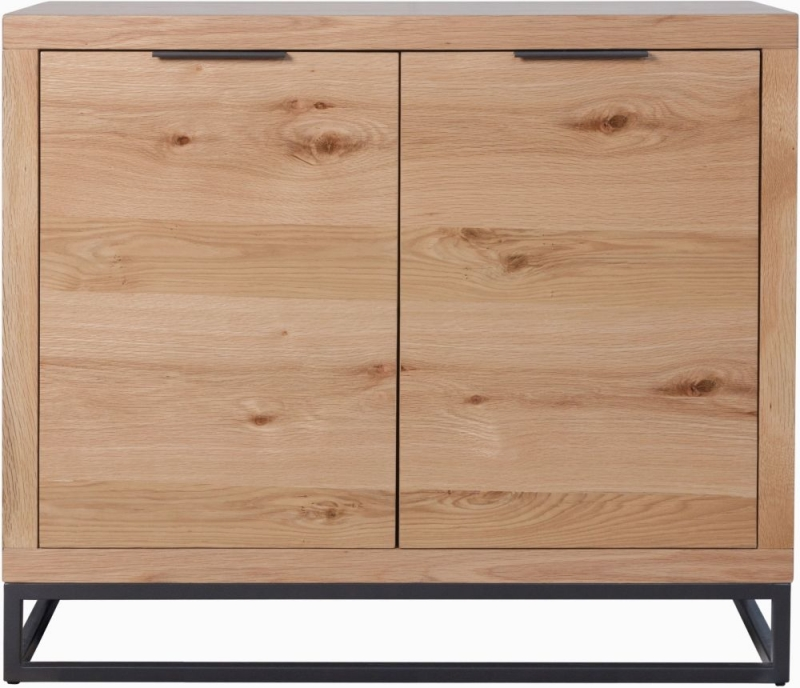 Inkster Industrial Oak and Metal 2 Door Sideboard