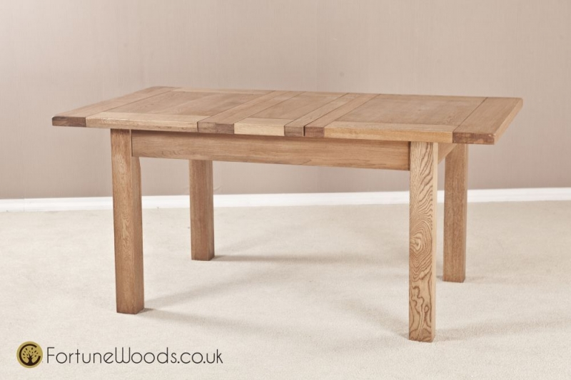 Country Oak Dining Table - 4ft 6in Extending with 2 Leaf