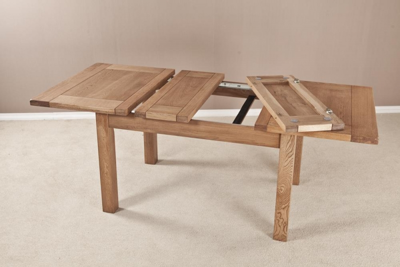 Buy Country Solid Oak Rectangular 2 Leaf Extending Dining Table