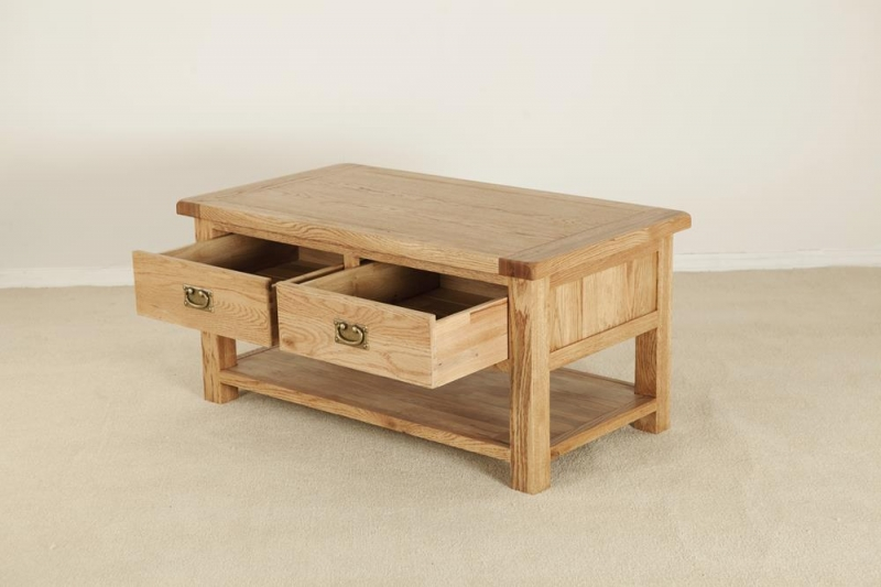 Country Oak Storage Coffee Table